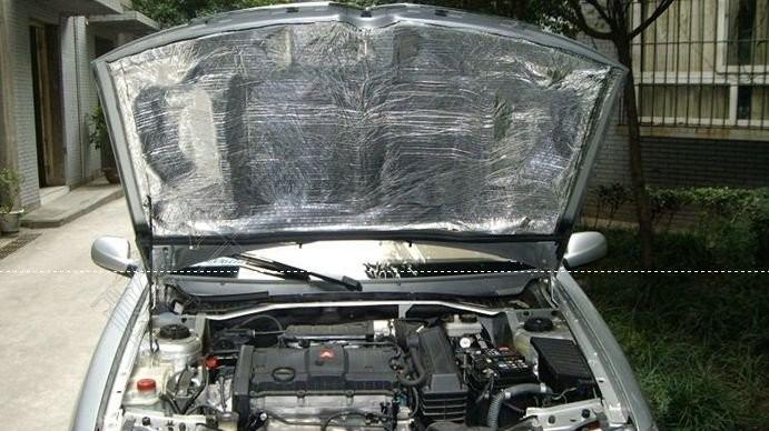 引擎隔音隔热 汽车发动机盖隔热棉 机盖隔音棉 通用型引擎高清图片